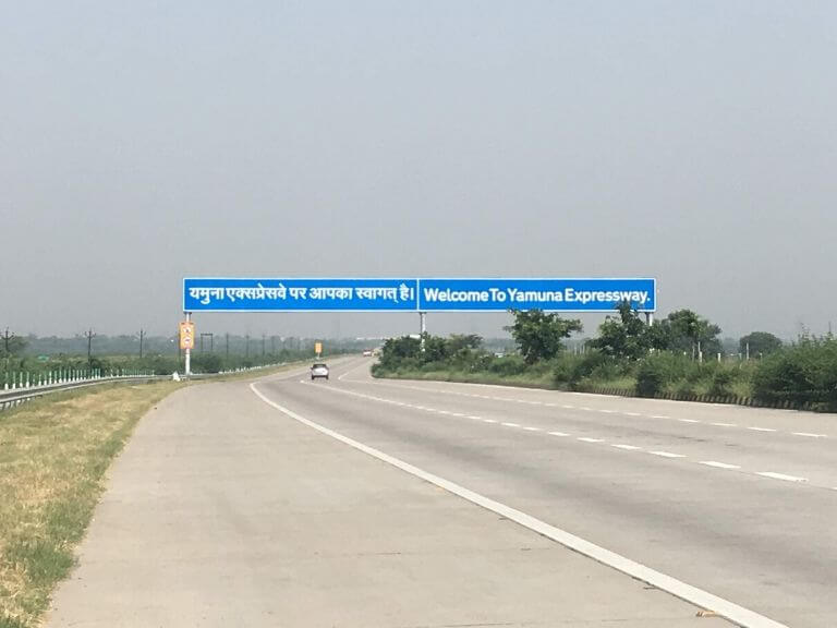 Entering Yamuna Expresswass
