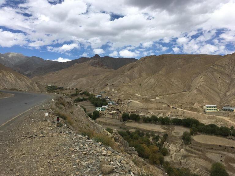 Beatiful View Before Namik La Pass