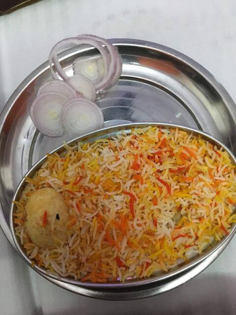 Egg Biriyani at Hotel Le Sancy, Delhi