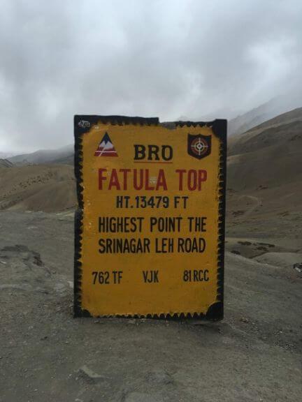 Fotu La Top, Highest Point on Srinagar-Leh Road
