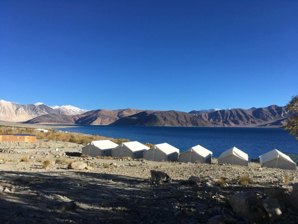 Tent Camp Near Pangong Lake