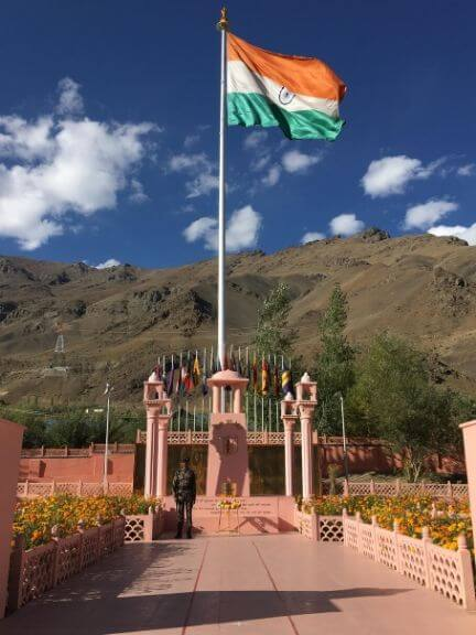 Our National Flag Hoisted, kargil War Memorial