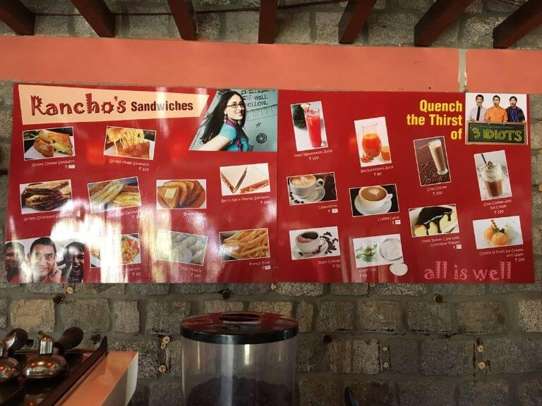 Rancho Cafe Menu, Ladakh