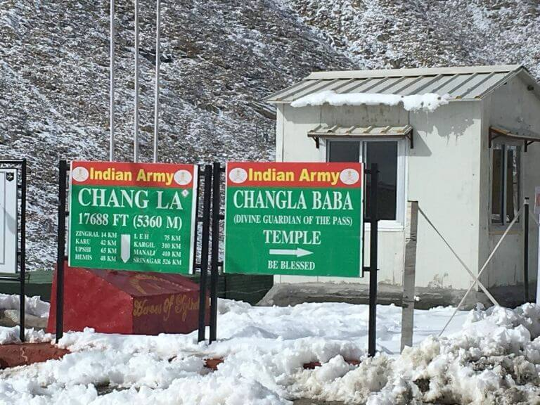 Snow laid Changla Pass