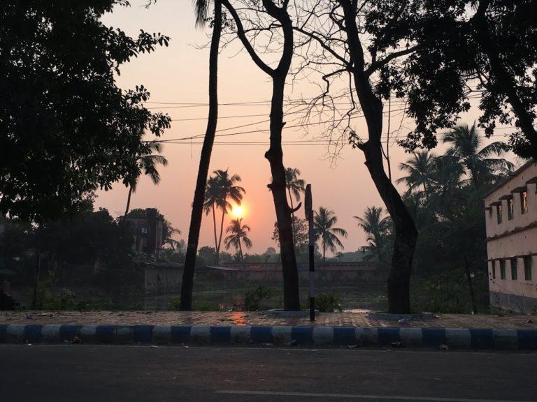 Sunset near Nimpith Ashram
