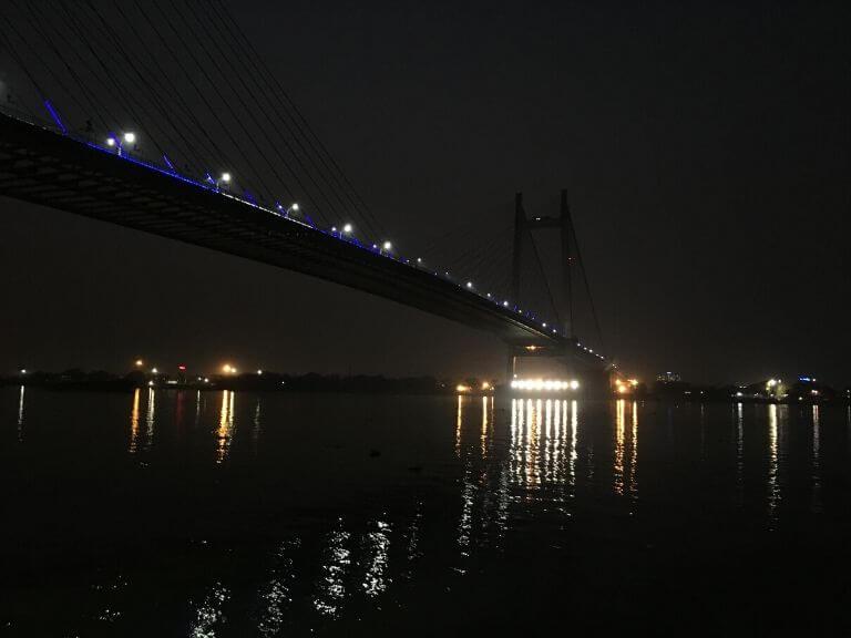 Vidyasagar Setu from Princep Ghat During Evening