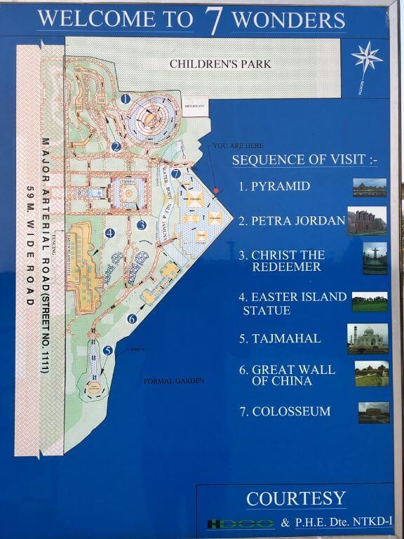 Location Map, Eco Park 7 wonders
