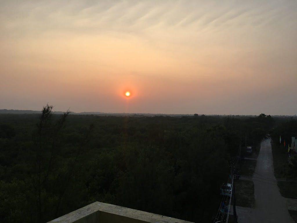 Sunset from Henry Island watchtower, Bakkhali