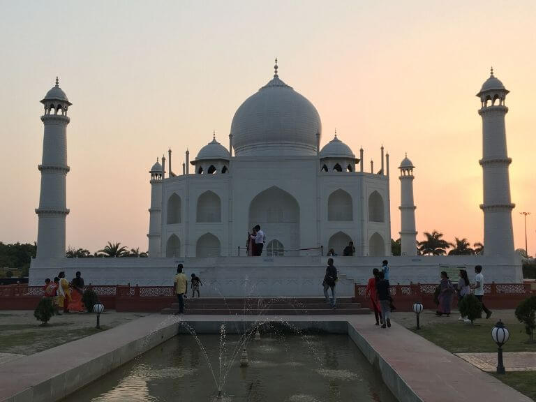 Taj mahal in sunset, 7 Wonders zone, Eco Park