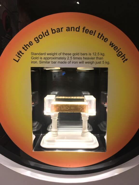 12.5 Kg Gold Bar RBI Museum
