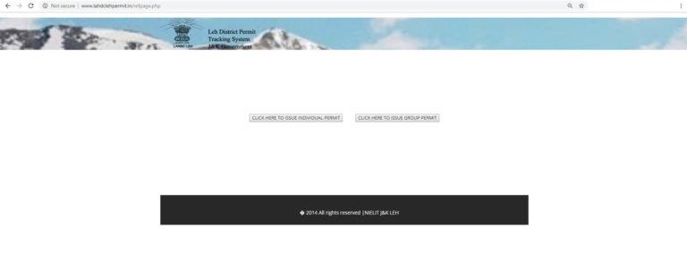 Leh Inner Line Permit Procedure Step 5 (Issue Individual Permit)