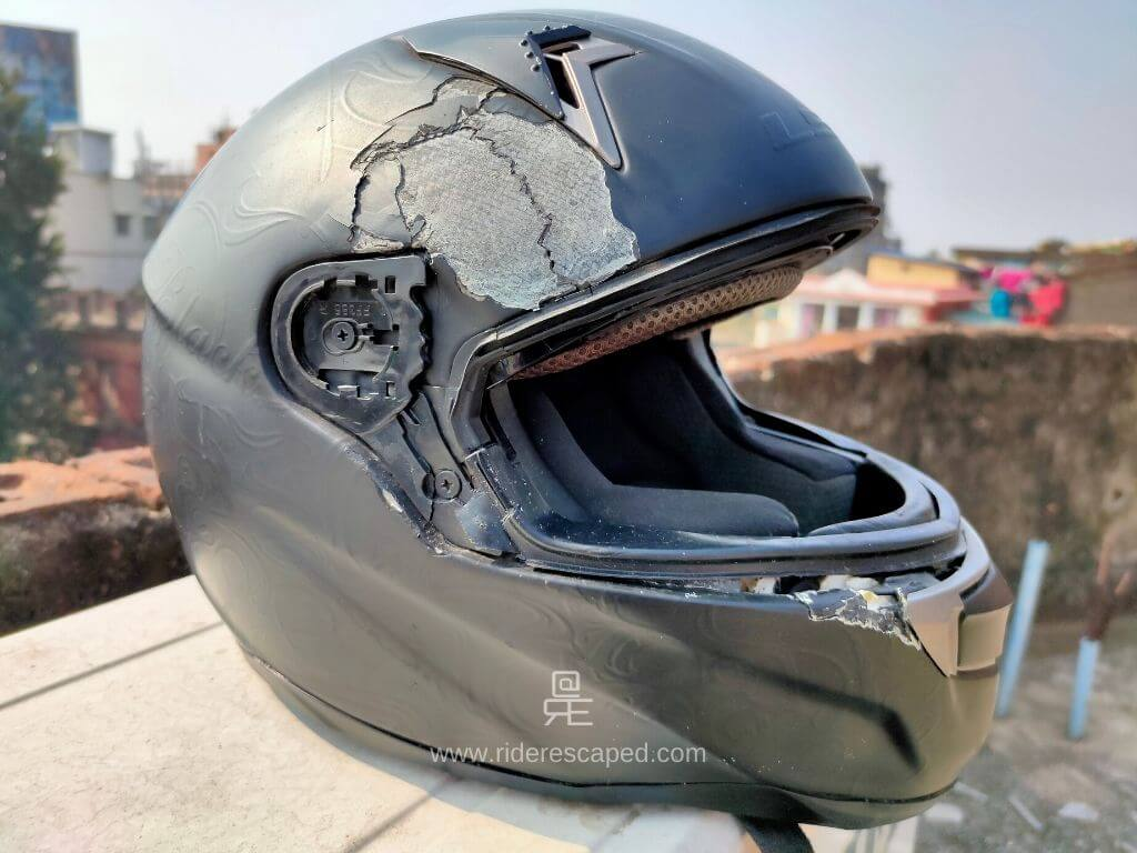 Helmet saved my life