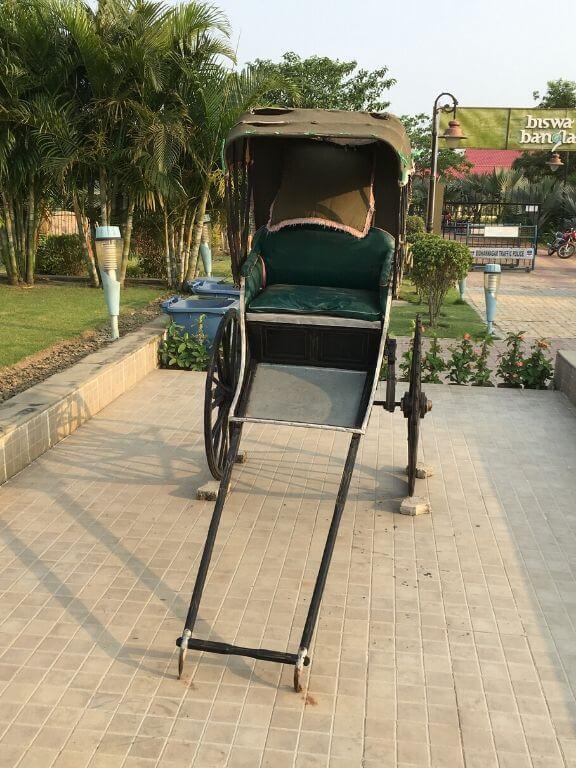 Biswa Bangla Shilpi Haat Hand Rickshaw