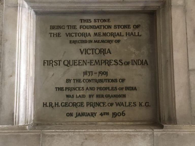 Victoria Memorial Original Foundation stone