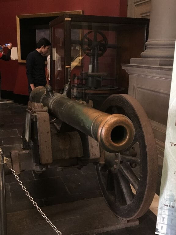 Prince Hall Original Cannon fired in war of 1757