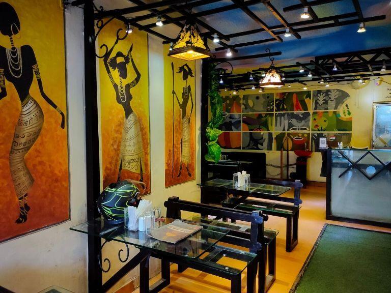 9X9 Restaurant Interior, Shantiniketan