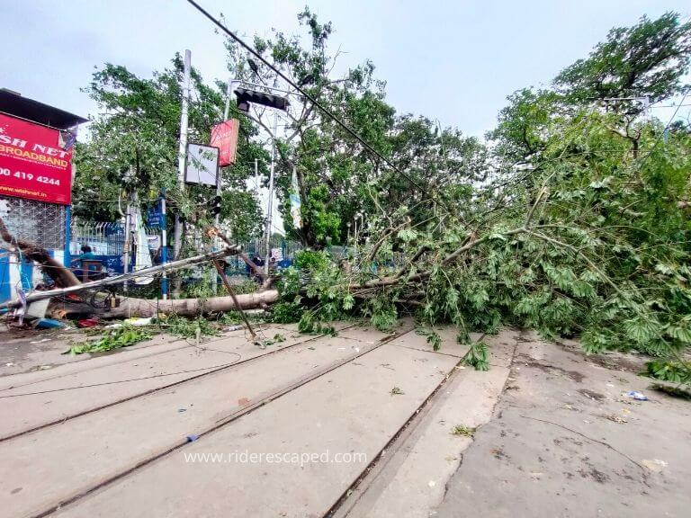 Amphan Cyclone effect, Bethun College Hedua, 21st May 2020