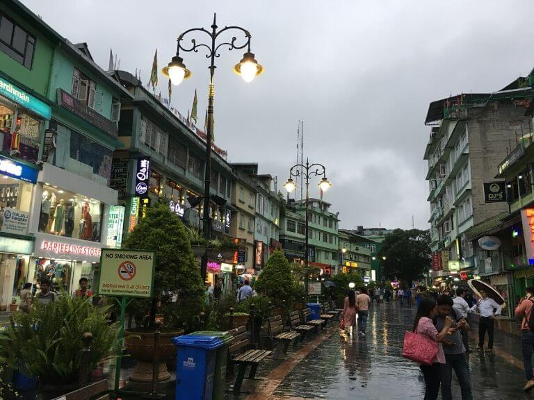 MG Marg in Evening, Gangtok Tour Guide