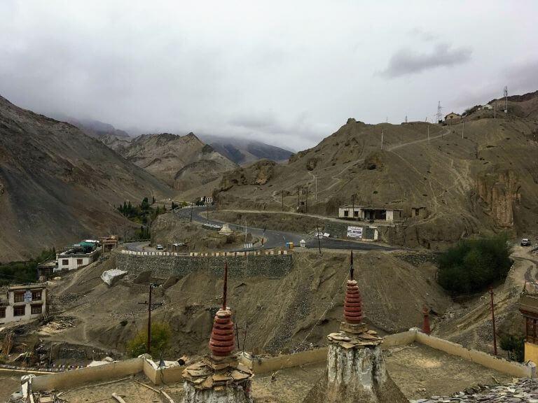 Curvy roads near Lamayuru, Ladakh