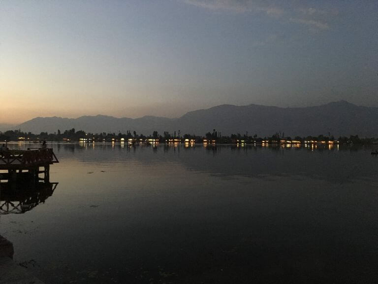 Dal Lake at evening. Srinaga