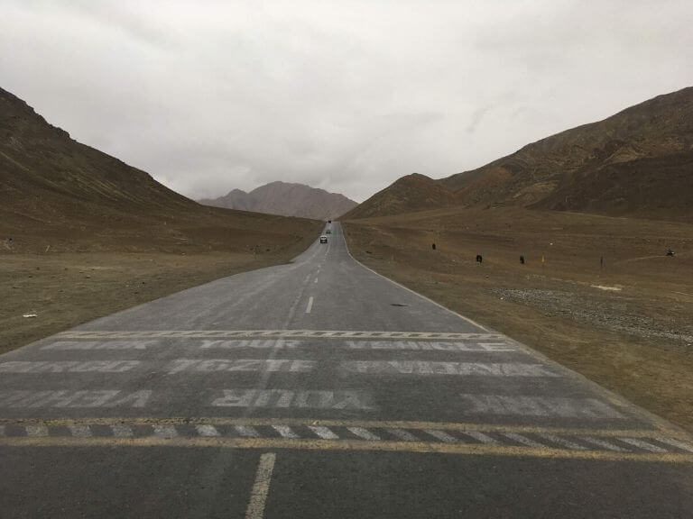 Famous Magnetic Hill stretch, Ladakh