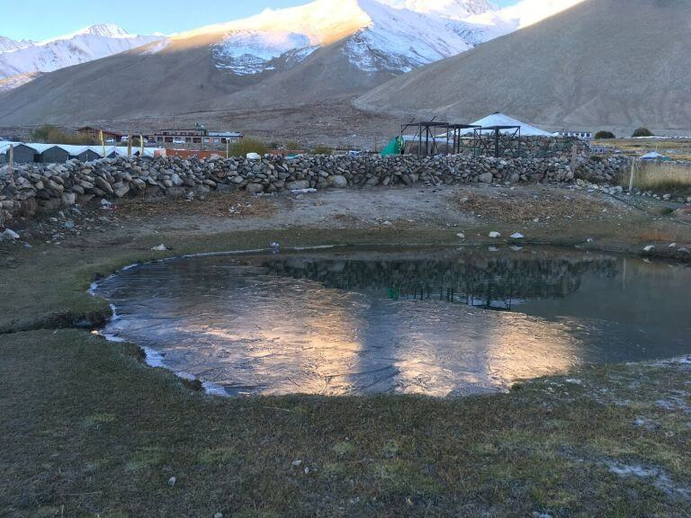 Frozen Water near Pangong Lake