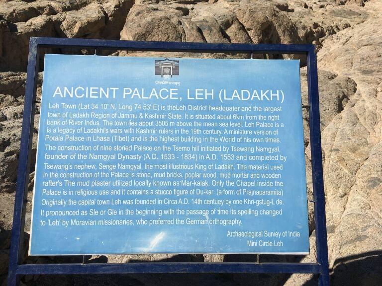 Leh Palace, Leh