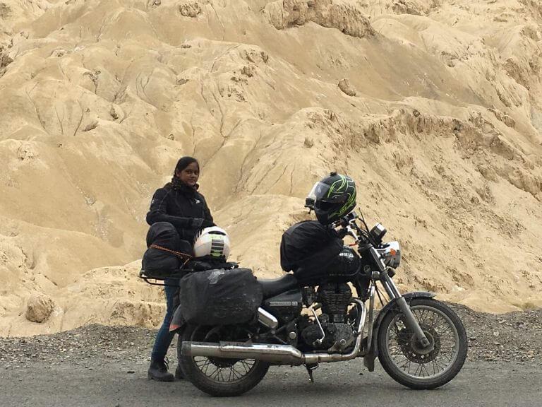 My Wife (Pillion) near Lamayuru