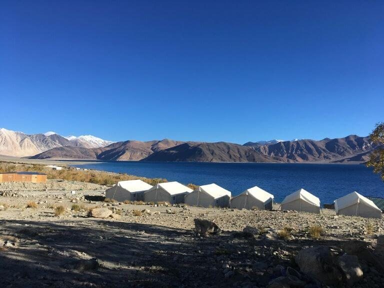 Tent near Pangong Lake, Ladakh