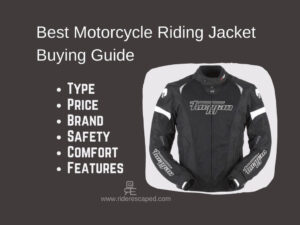 Best Motorcycle Riding Jacket Buying Guide