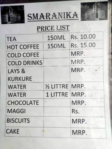 Smaranika Food Menu, Kolkata Tyre Park