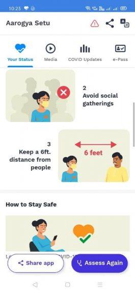 Aarogya Setu App tips to stay safe