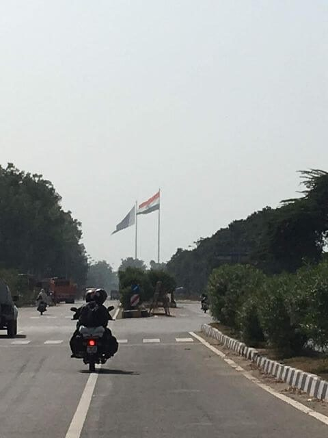 India & Pakistan Flag in a Frame, Wagah Border, Amritsar