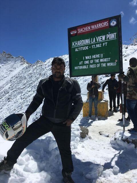Me at Khardung La Top, ladakh