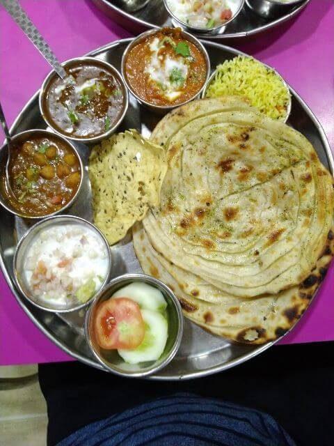 Paratha Thali, Brother's Amritsari Dhaba, Amritsar