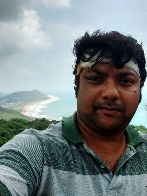 While sightseeing in Vizag